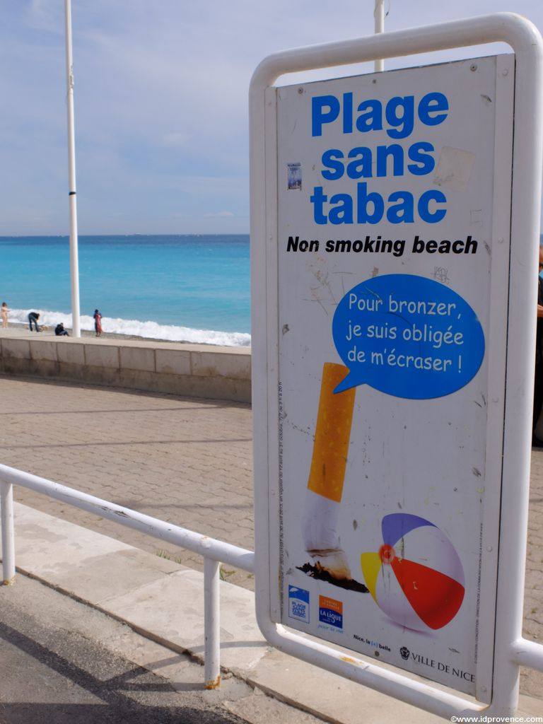 Nichtraucherstrand in Nizza