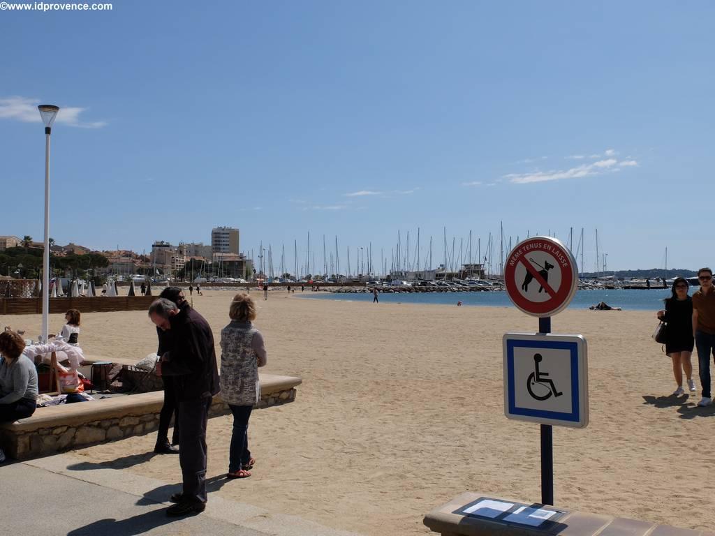 Strand in Ste Maxime -Frankreich