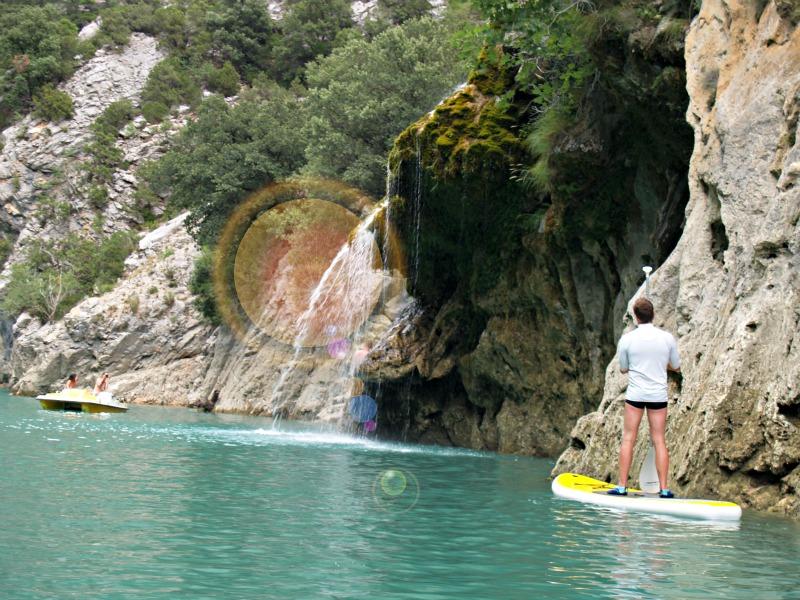 """Wasserfall """"Cascade de Saint-Maurin"""", ca. 1,5km im Canyon-inneren"""