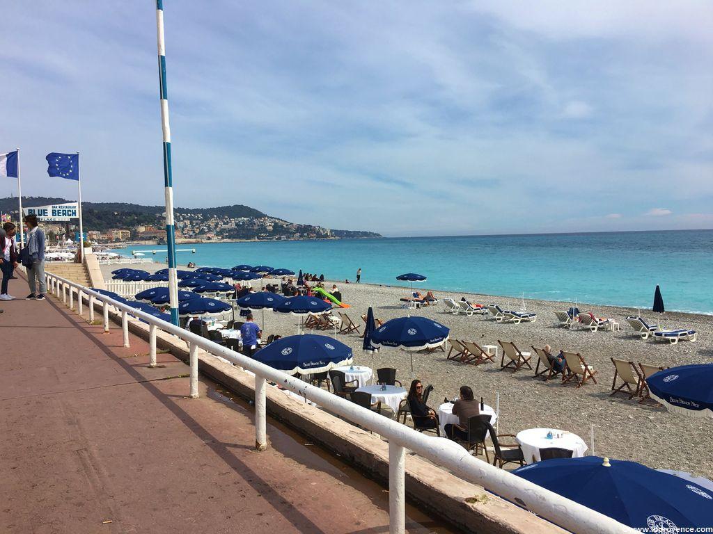 Privatstrand Blue Beach in Nizza