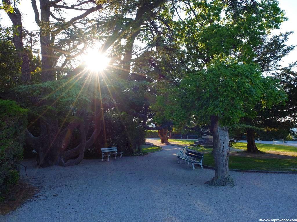 Sehenswürdigkeiten Avignon - Oben auf dem Rocher des Doms