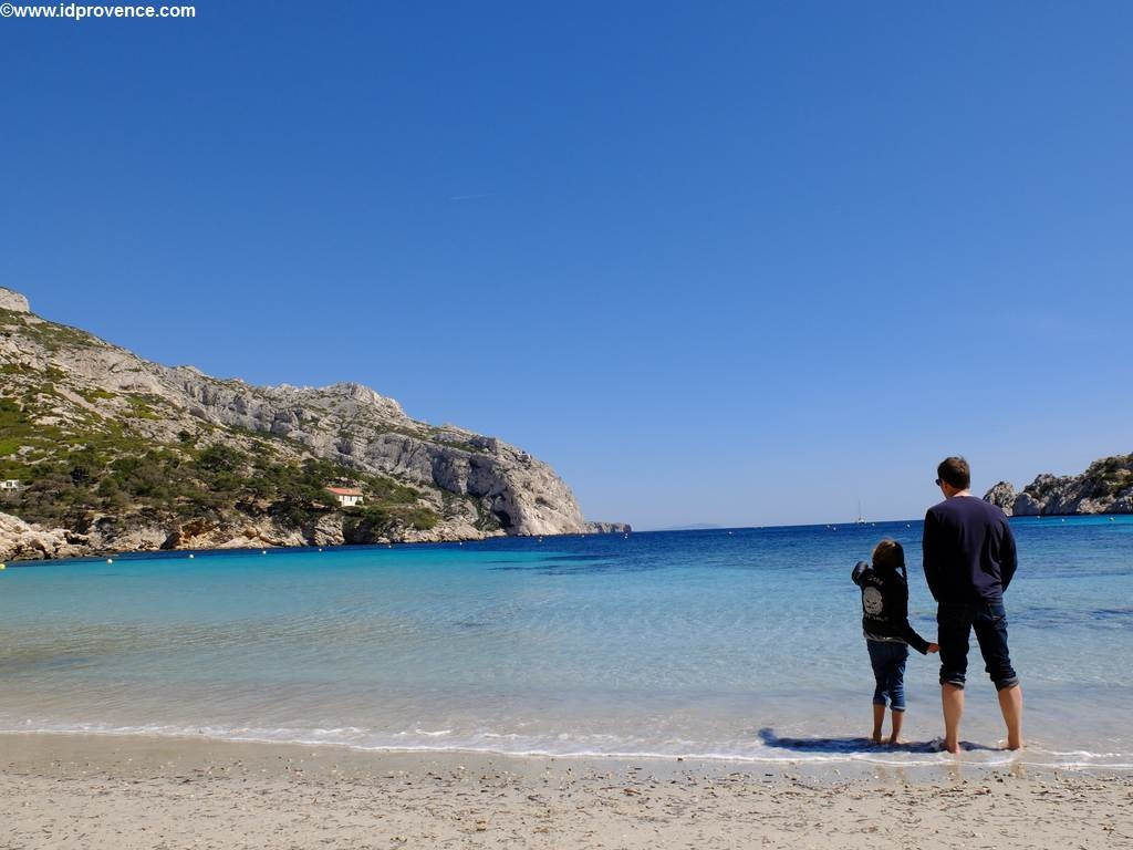 Strand in Marseille-Calanque Sormiou