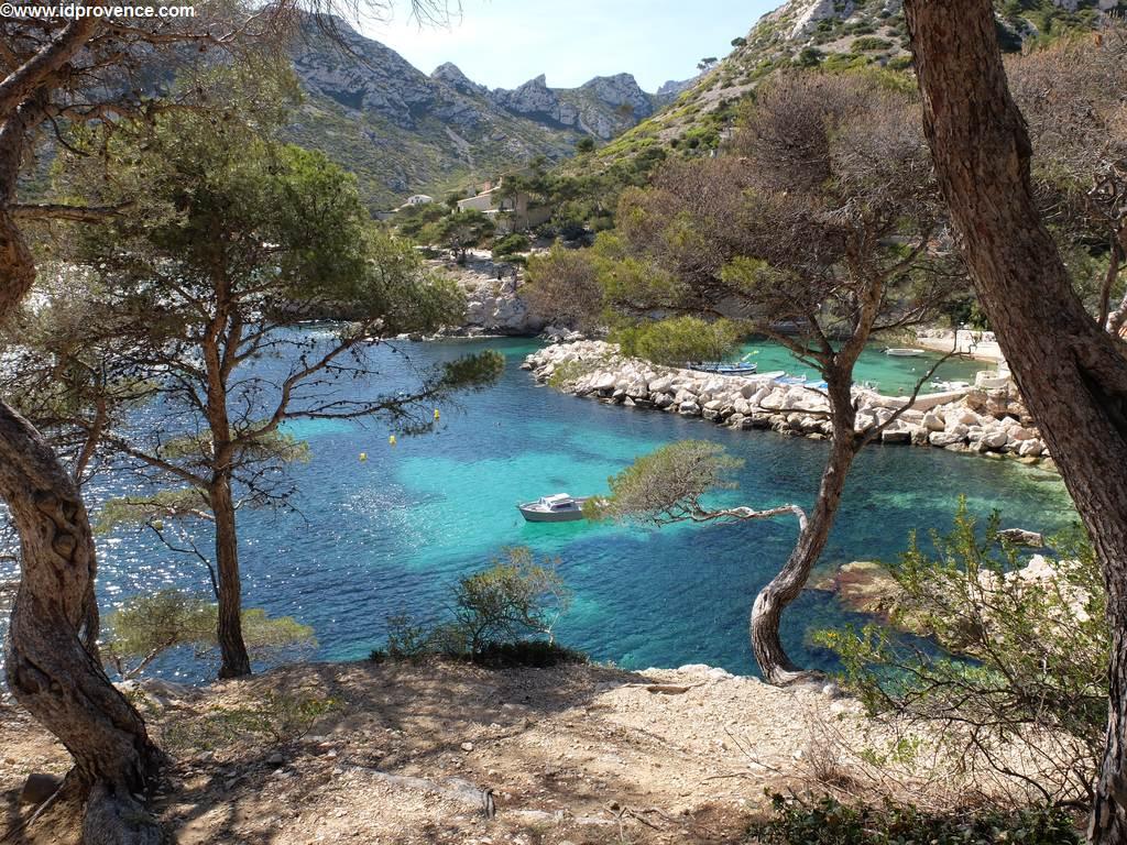 Blick auf einen der schönsten Strände von Marseille - dem Calanque Sormiou