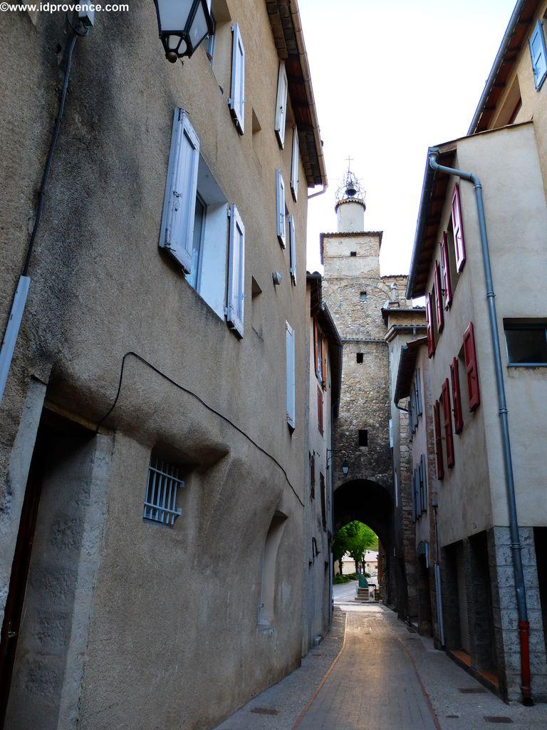 Die Altstadt von Castellane mit ihren engen Gasse