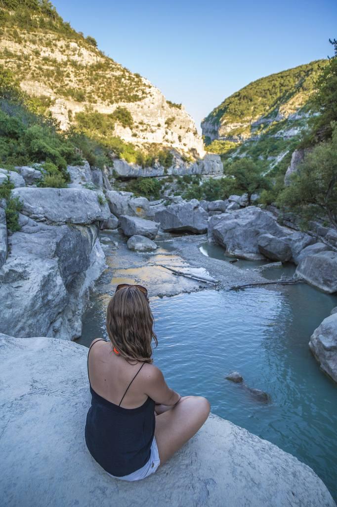 Gorges du Verdon abseits der Touristen. Tolle Provence Sehenswürdigkeit