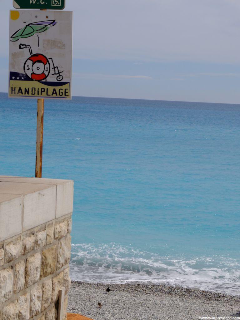 Einziger Behindertengerechter Strand in Nizza ist der Strand la plage du Centenaire