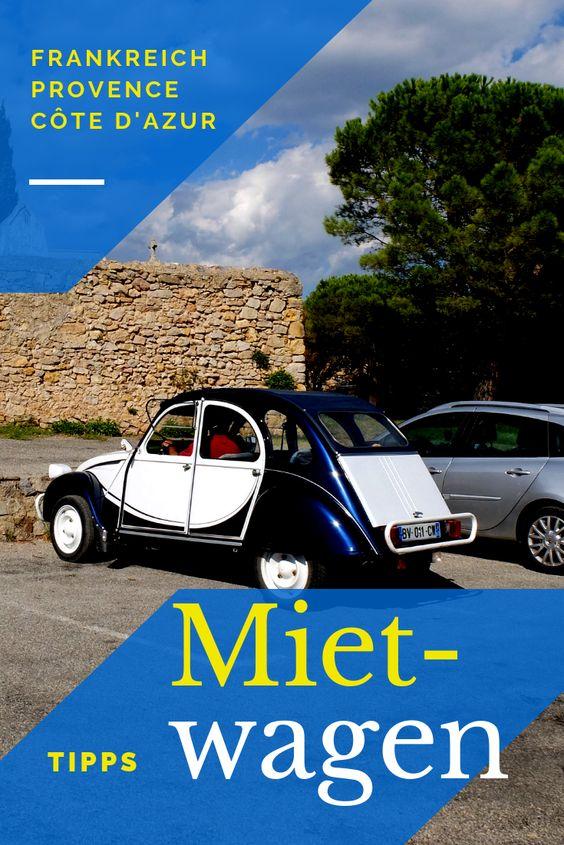 Mietwagen Nizza, Côte d'Azur und Süd-Frankreich Tipps, Leihstationen und Preisvergleichsportal