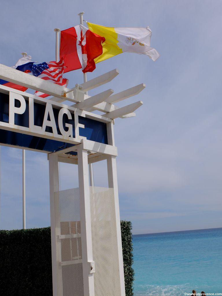 Privatstrand Ruhl Plage in Nizza