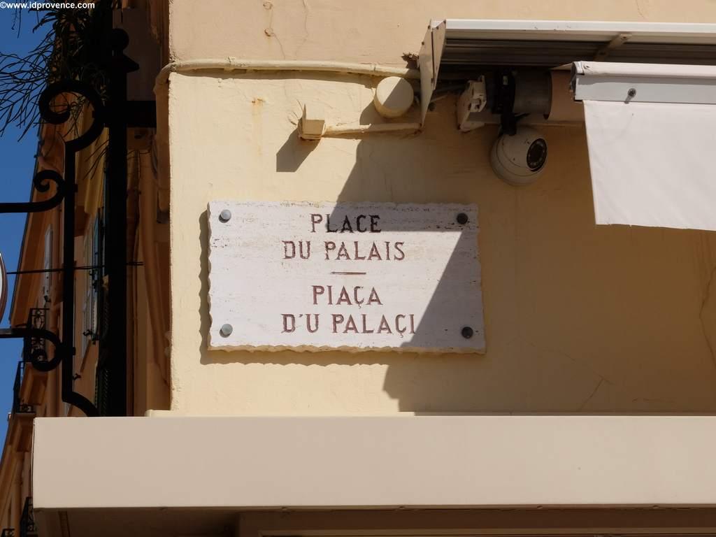 Strassenschild Palais Monaco