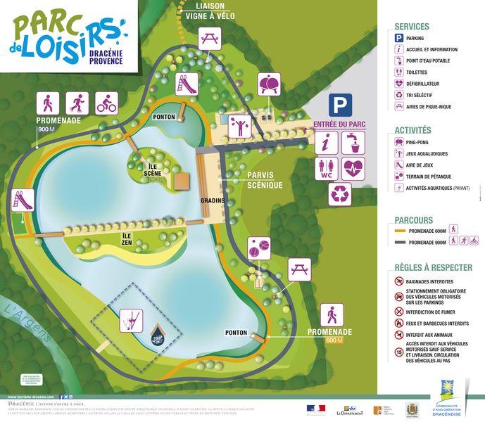 Übersichtsplan Freizeitpark Vidauban - Parc de Loisirs Dracénie-Provence