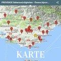 Karte Sehenswürdigkeiten der Provence