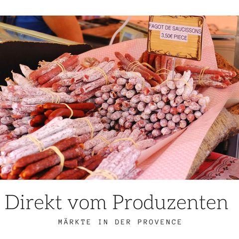 Märkte Provence direkt vom Produzenten